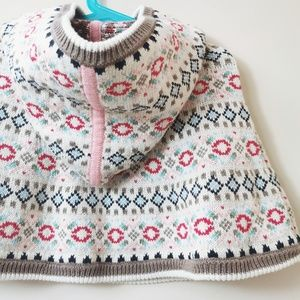 Hanna Andersson Hooded Poncho Size 80